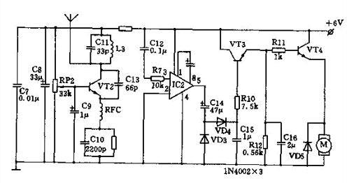 vt1,vt2,vt3均用3dg130d型npn三极管,β>100.